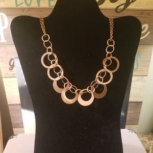 Copper Circular Necklace Costume Jewelry